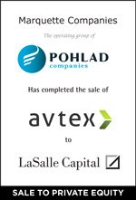 Marquette Companies has completed the sale of avtex to LaSalle Capital