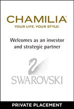 Chamilia welcomes Swarovski as an investor and strategic partner