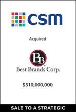 CSM Completes Acqisition of Best Brands