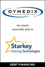 Dymedix has issued convertible debt to Starkey Hearing Technologies.