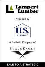 Lampert Lumber acquired by U.S. LBM, a portfolio company of BlackEagle