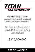 Titan Machinery Debt Financing